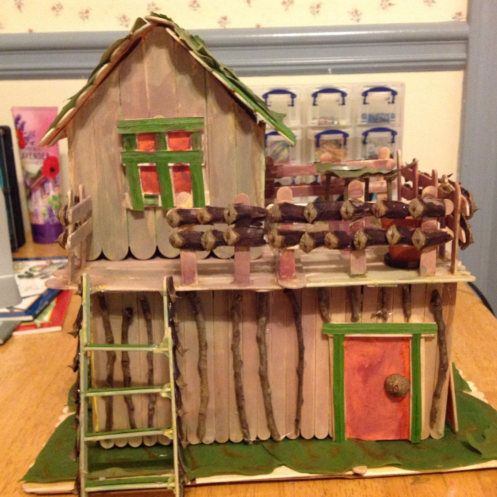 Rebecca S Fairy House With Popsicle Sticks