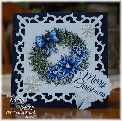 Our Daily Bread Designs Stamps - Poinsettia Wreath