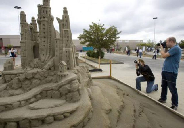 magnifique création avec du sable