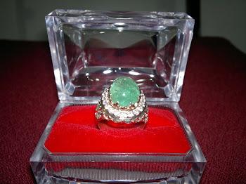 Cincin Perak Permata Zamrud - RM3600