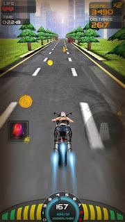 صورة من داخل لعبة سباق السرعة