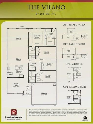 Landon Homes Featuring The Vilano Floorplan Adams