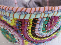 Tecnica etno coser telas formando dibujos
