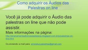COMO ADQUIRIR OS ÁUDIOS DAS PALESTRAS ON LINE