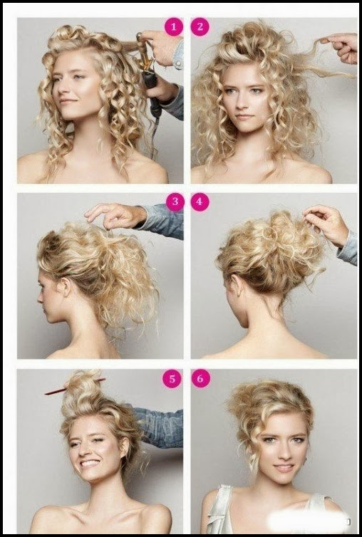 Long hair updos tutorial.Curled-side updo.Curly hair tutorial.Curly