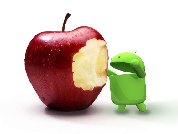 Partage fichiers Android et iPhone