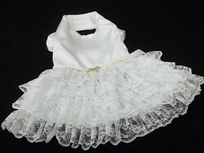 Vestido de Noiva para Cachorra