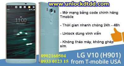 Unlock mo mang giai ma LG V10 xach tay o dau