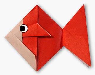 Hướng dẫn cách gấp con Cá Vàng giấy - Xếp hình Origami với Video clip