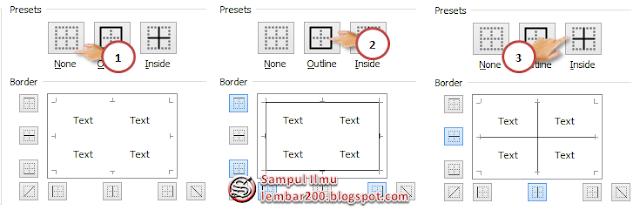 Fungsi Border Serta Cara Menggunakannya Di Excel