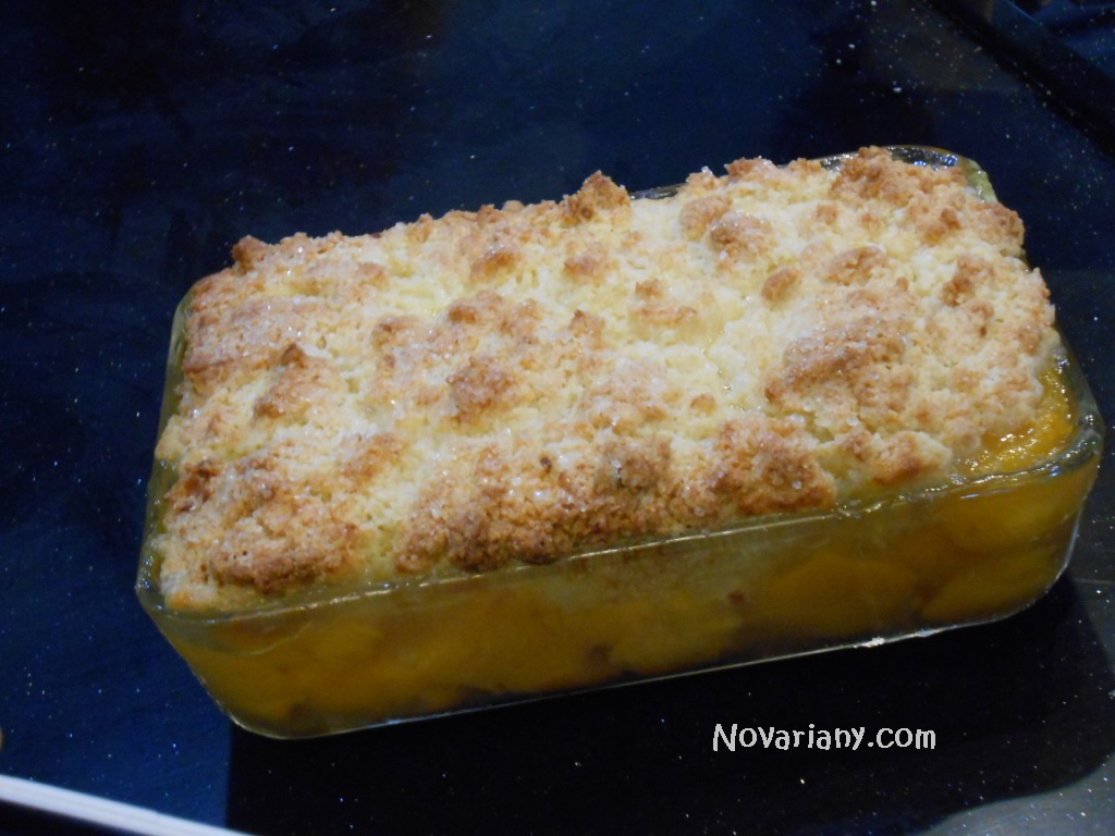 peach cobbler by chef yuda bustara
