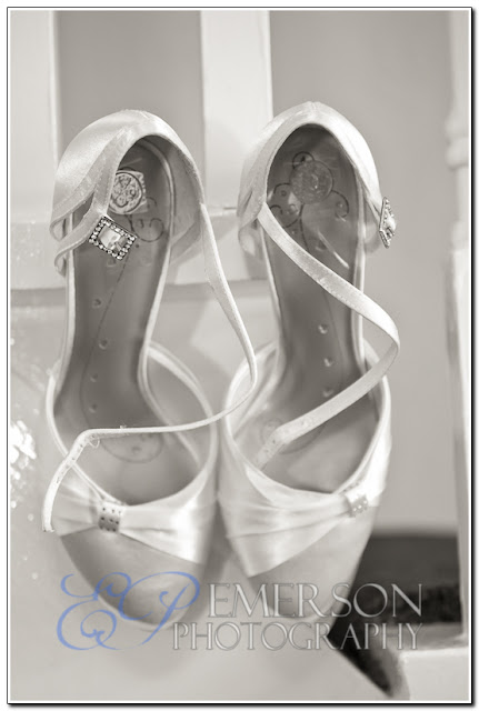 Emerson Photography photograph of bride's shoes
