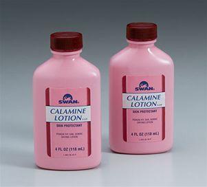 Calamine lotion diberikan kepada pesakit chicken pox untuk memberi kesan penyejukan dan kelegaan (cooling and soothing effect)