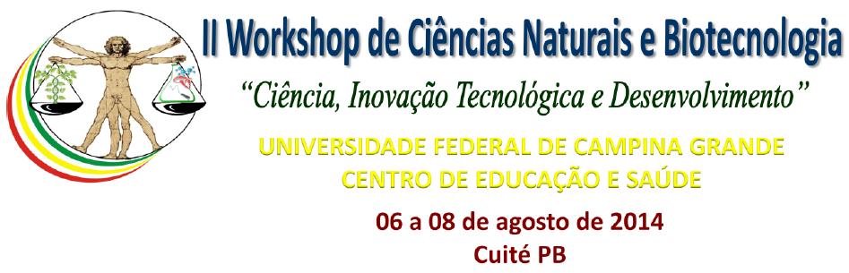 II Workshop de Ciências Naturais e Biotecnologia 2014