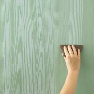 style rainbow diy wood grain walls