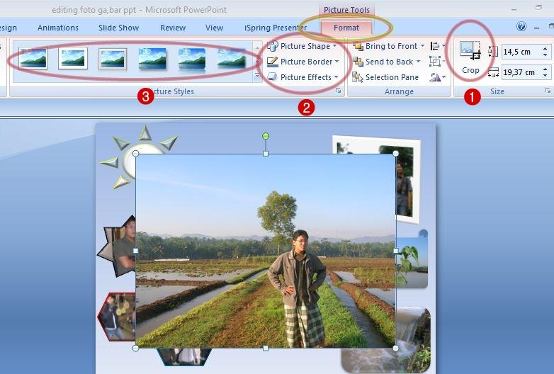 Klik kiri pada gambar atau foto, perhatikan pada menu toolbar pada