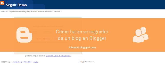 Cómo hacerse seguidor de un blog en Blogger