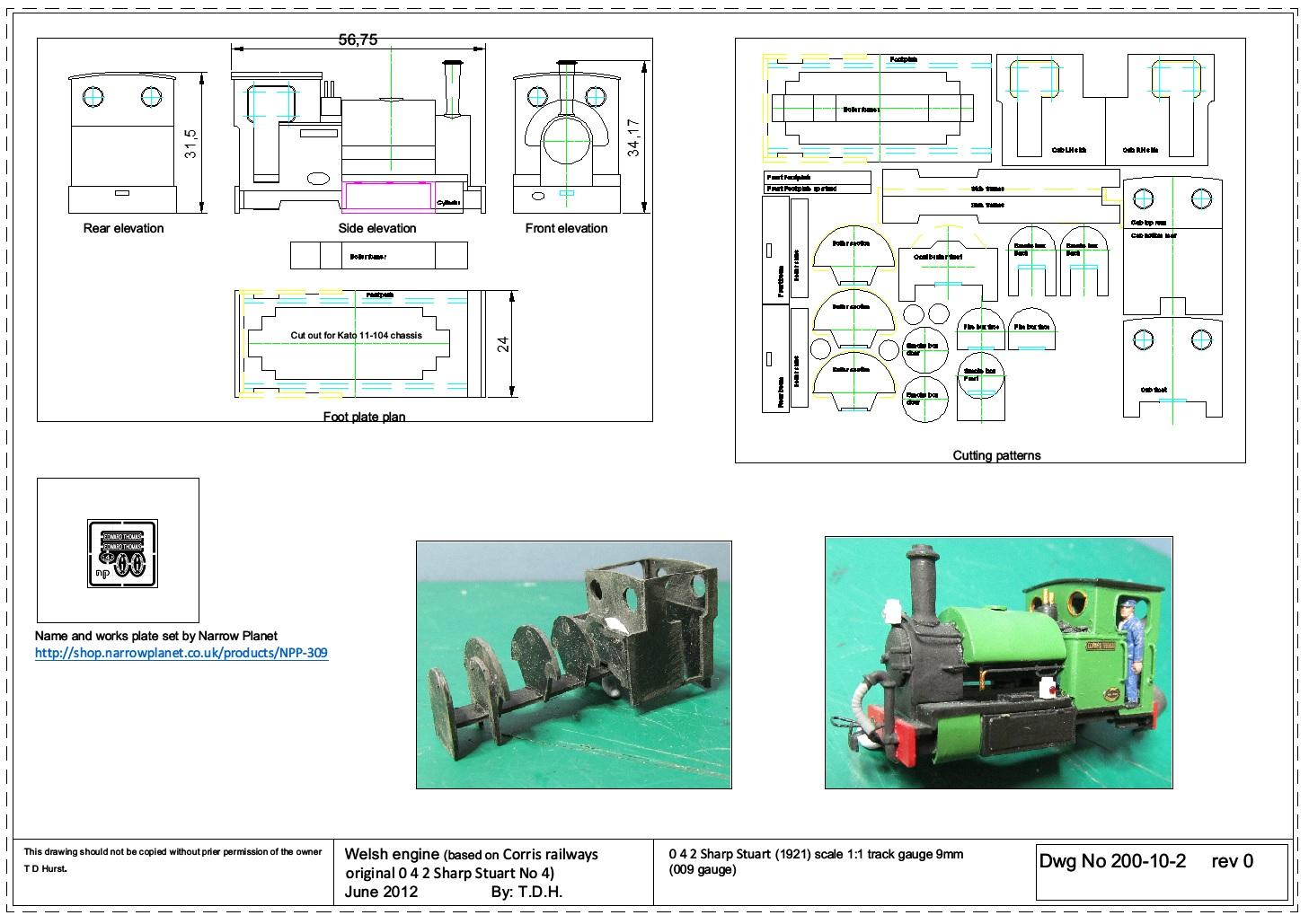 Model Engine Works 009 Edward Thomas type engine – Kato Engine Diagram