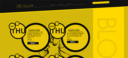 X6 Yellow blogger template