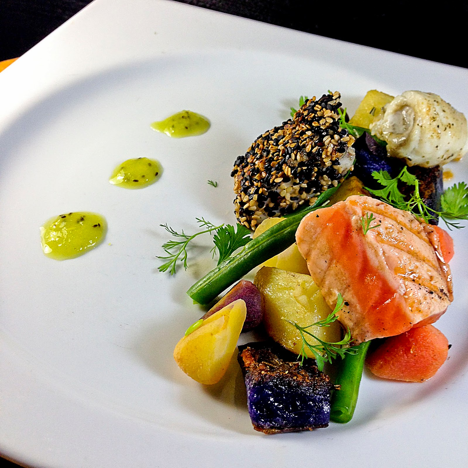 Turf N Surf >> ChezWhat?: Catch Of The Day And A Little Plating Fun