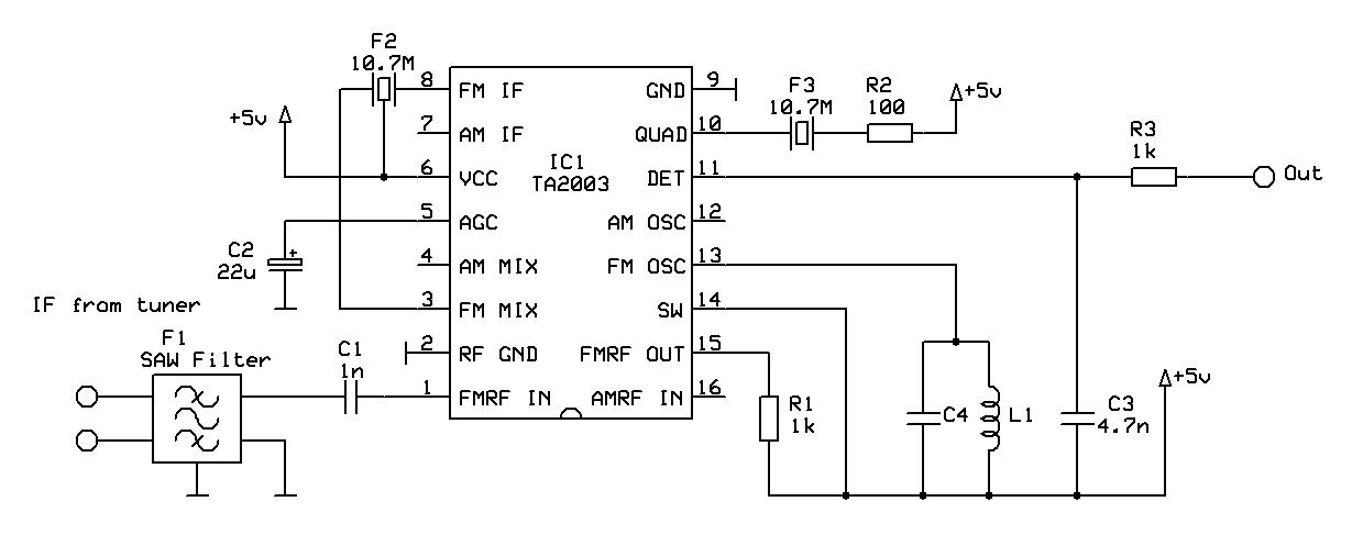 TA2003 FM detector schematic