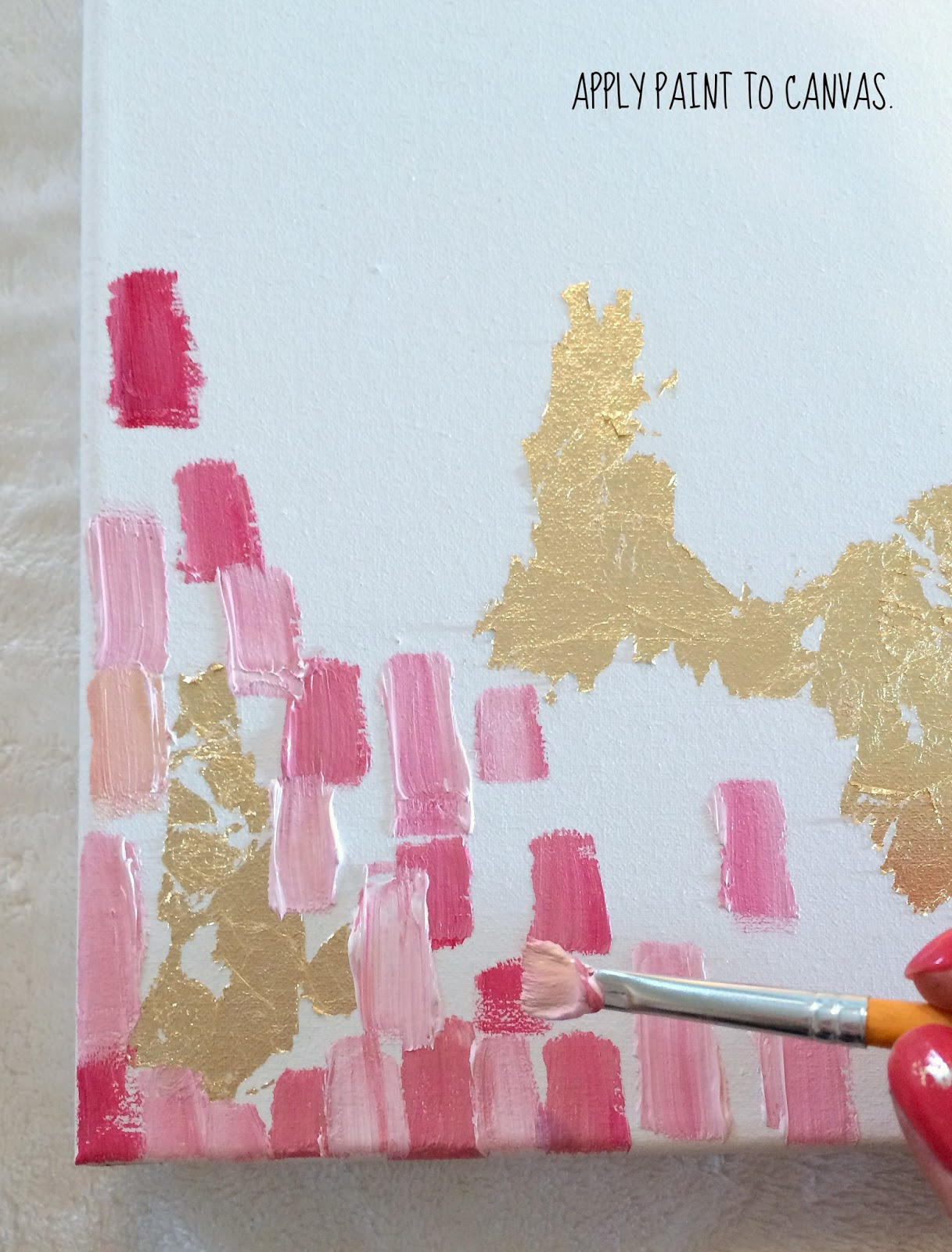Livelovediy how to make diy gold leaf abstract art for Diy paint