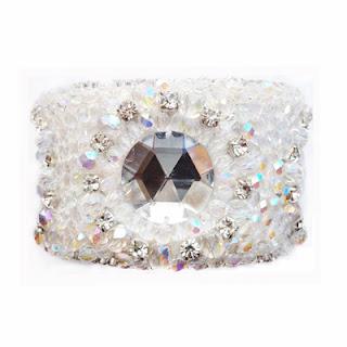 crystal cuff, crystal bracelet, elisha francis, statement jewelry, designer jewelery
