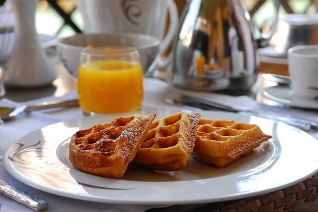amerikanische waffeln frühstück