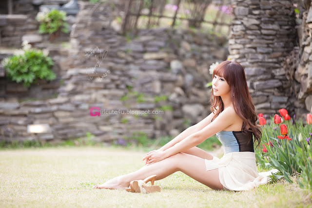 3 Cheon Bo Young Outdoor -Very cute asian girl - girlcute4u.blogspot.com
