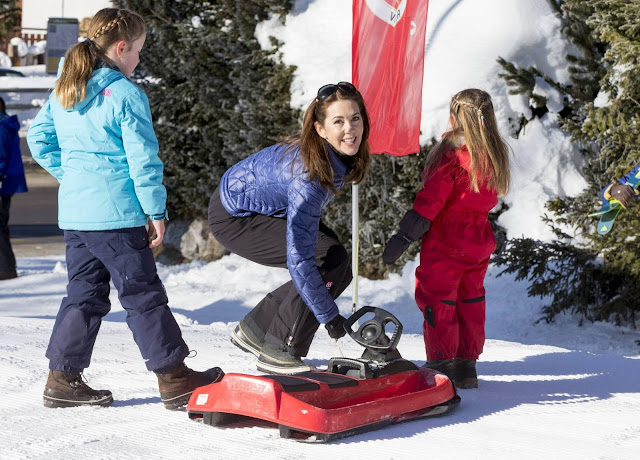 Crown Prince Frederik of Denmark and Crown Princess Mary of Denmark with their children Prince Christian, Princess Isabella, Prince Vincent and Princess Josehpine