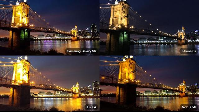 Nexus 5X vs Galaxy S6, LG G4 and iPhone 6S camera Twilight
