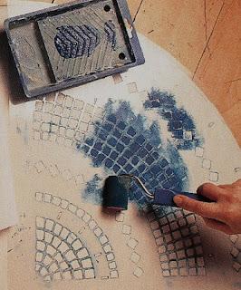 Mesa con Efecto de Mosaico, Tecnicas Pintura, Decoracion Facil