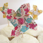 Pinwheel cake toppers