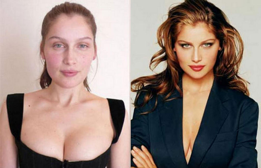 Chuck's Fun Page 2: Supermodels with and without makeup.