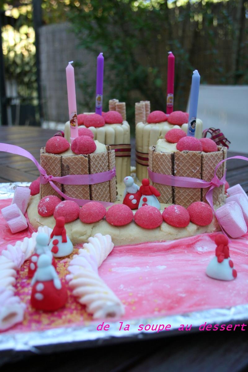 de la soupe au dessert gateau d anniversaire chateau de princesse