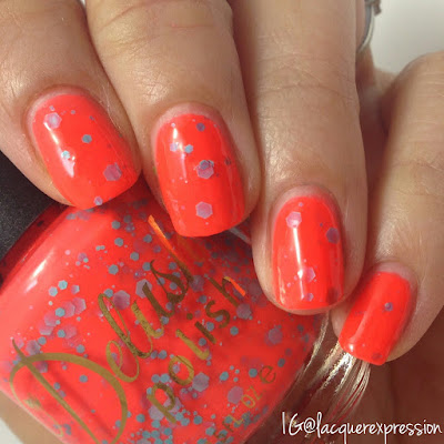 swatch of all twerk and no play nail polish from the life's a beach collection from delush polish
