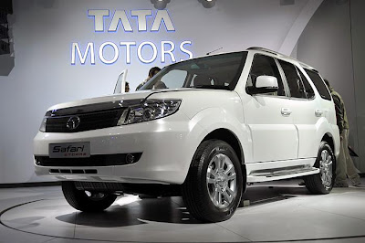 new tata safari storme at the auto expo