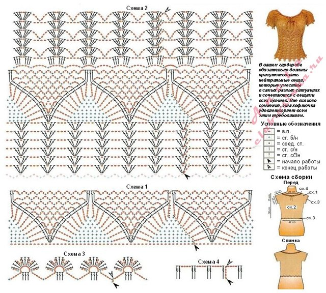 Вязание крючком майки схемы и описание 62