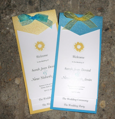 Joe is a graphic designer and made all these fabulous wedding programs