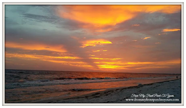 Heaven-Beach Sunset-Orange Sky-The Forgotten Coast- Mexico Beach, FL