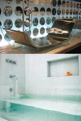 Необычная ванна. Прозрачная ванна.