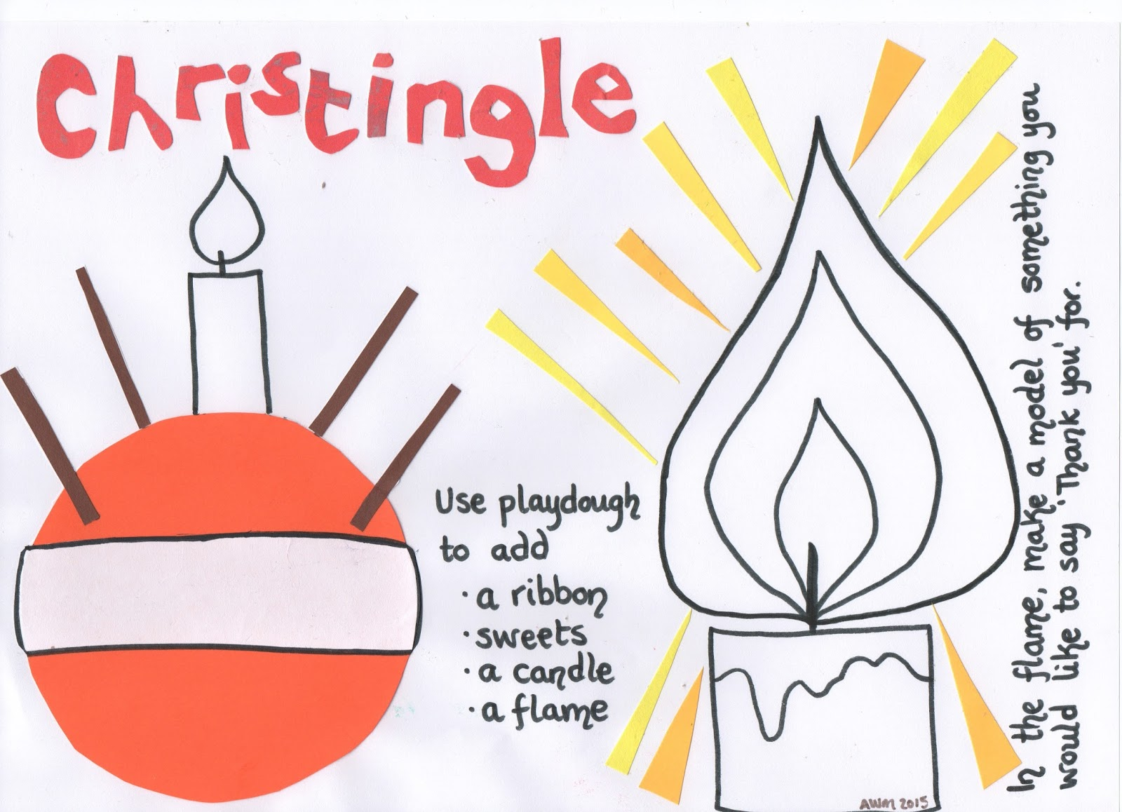 christingle colouring activities : Here Is A Play Dough Mat To Help Children To Explore The Different Parts Of The Christingle And To Think About The Good Things God Has Given Them