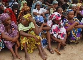 Nigeria: some who escaped Boko Haram.