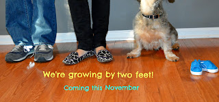 baby announcement picture shoes