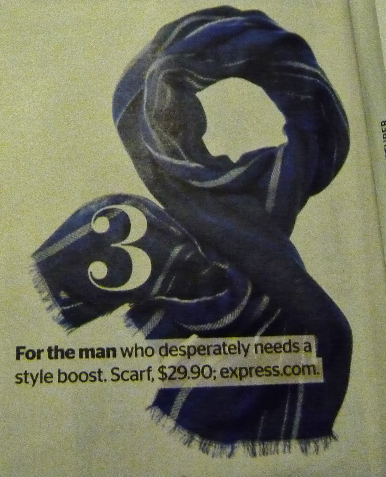 express plaid men's scarf