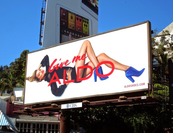 Give me Aldo blue shoes billboard sep 2013