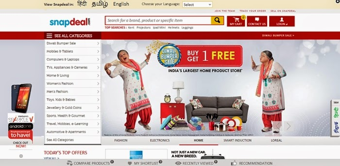 Snapdeal discount coupons on mobiles