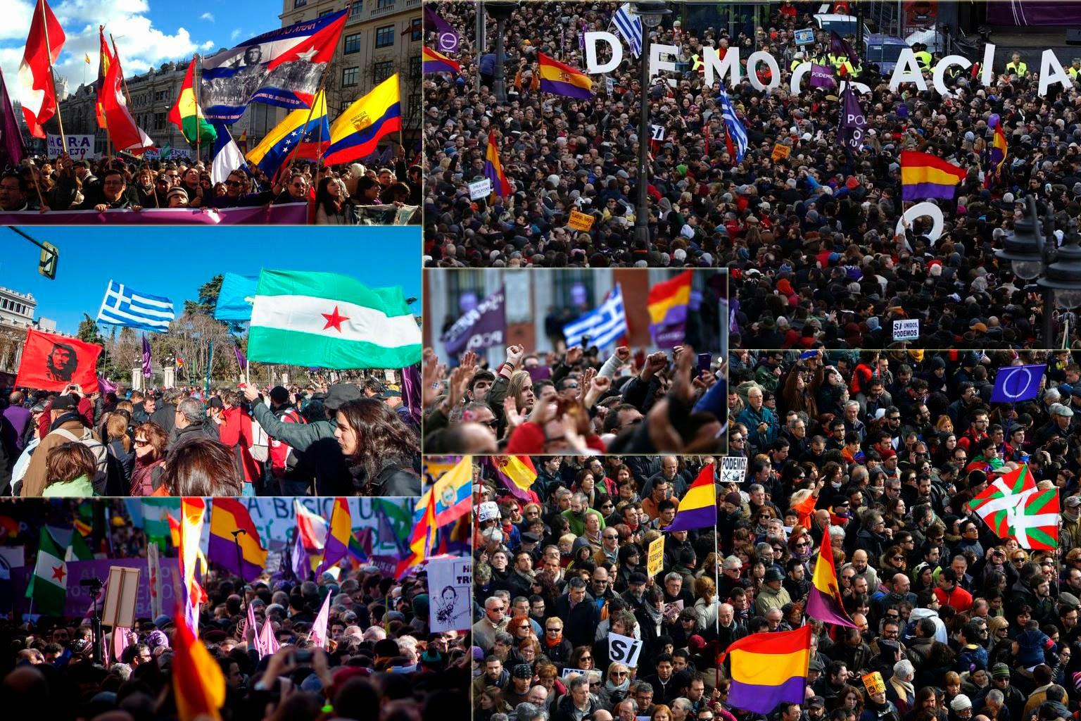 Una manifestación por el cambio en España