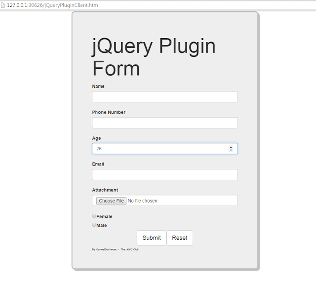 Build a   jQuery Plugin     Form
