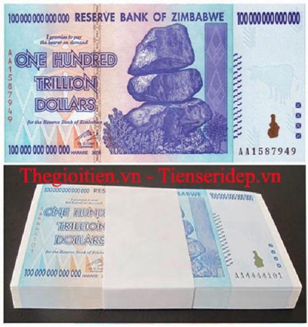 tiền Zimbabwe lì xì cực khủng